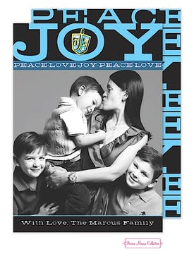 Hanukkah Joy Flat Photo Card