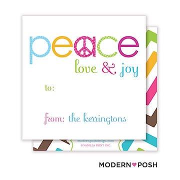 Peace Holiday Square Enclosure Card Calling Card