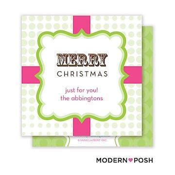 Mod Holiday Enclosure Card Calling Card