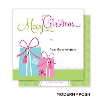 Holiday Gifts Square Enclosure Card Calling Card