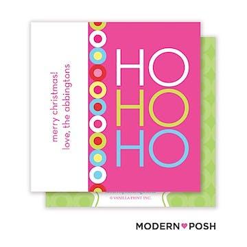 Ho Ho Holiday Square Enclosure Card Calling Card