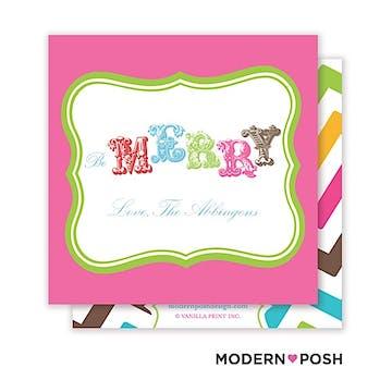 Bubbly Holiday Square Enclosure Card Calling Card