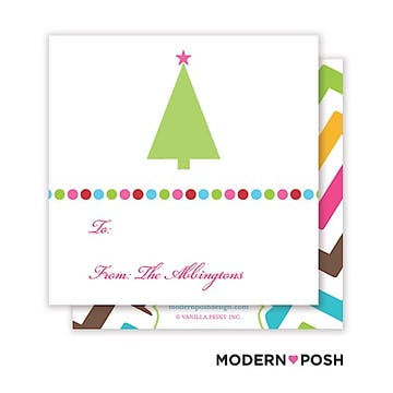 Bright Dot Holiday Square Enclosure Card Calling Card