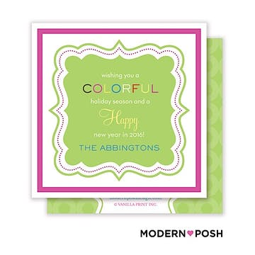 Colorful Candy Cane Square Enclosure Card Calling Card