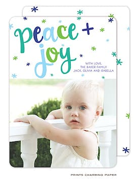 Peace and Joy Flat Photo Card