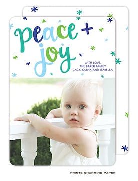Peace and Joy Flat Photo Card