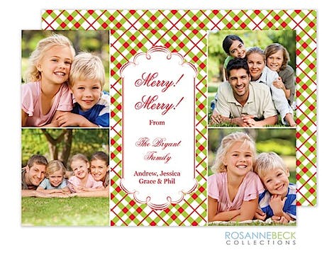 Holiday Plaid Flat Photo Card