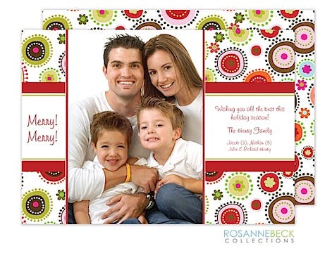 Holiday Burst Flat Photo Card