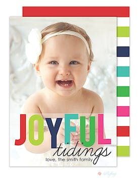 Joyful Tidings Christmas Flat Photo Card