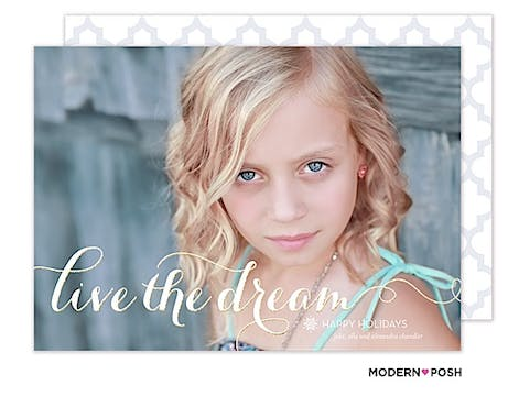 Live The Dream Holiday Flat Photo Card