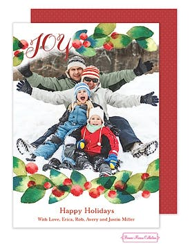 Watercolor Joy Flat Photo Card