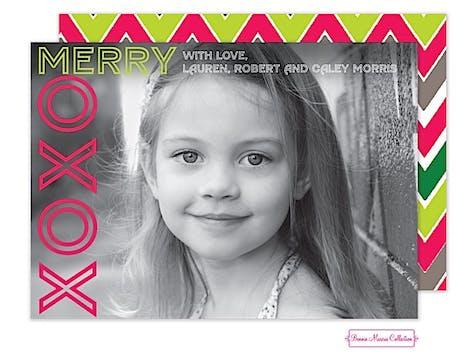 Merry XOXO Flat Photo Card