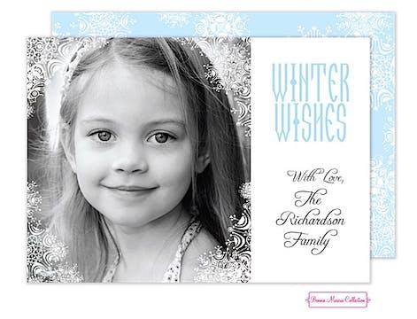 Winter Snowflake Flat Photo Card