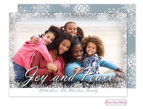 Joy and Peace Flat Photo Card