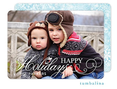 Holiday Flourish Holiday Flat Photo Card