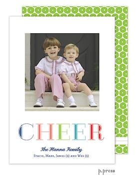 Cheer Holiday Flat Photo Card
