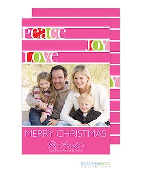 Peaceful Holidays Flat Photo Card