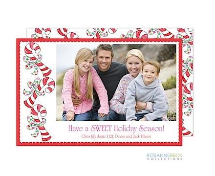Candy Cane Flat Photo Card