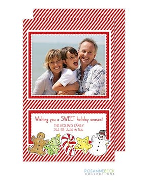 Christmas Cookie Flat Photo Card