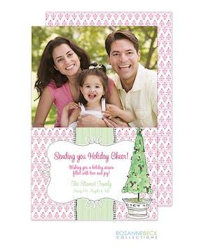 Topiary Flat Photo Card