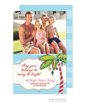 Holiday Palms Flat Photo Card