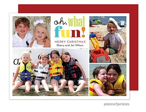 Oh, What Fun! Holiday Flat Photo Card