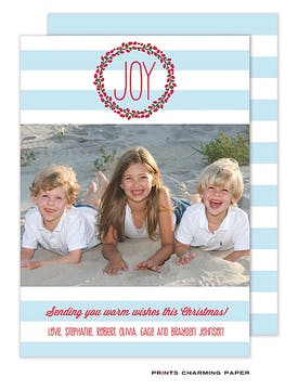 Joyful Wreath Flat Photo Card