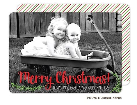 Merry Christmas Flat Photo Card