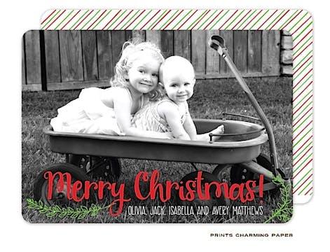 Merry Christmas Flat Photo Card