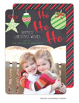 Ho Ho Ho Flat Photo Card