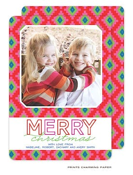 Merry Wishes Flat Photo Card