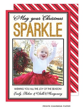 Christmas Sparkle Flat Photo Card