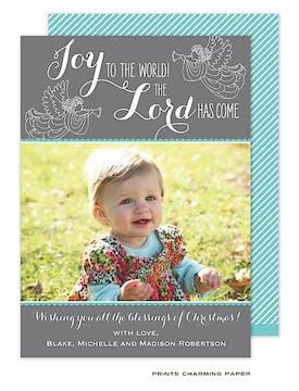 Host Of Angels Grey Flat Photo Card