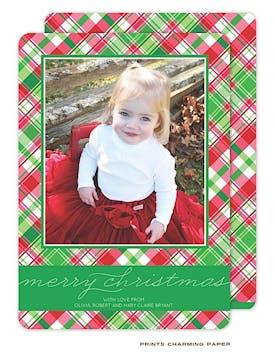 Christmas Plaid Flat Photo Card