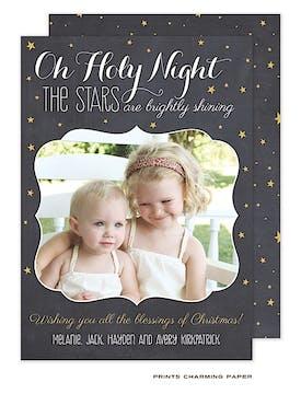 Oh Holy Night Flat Photo Card