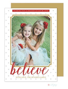Believe Holiday Flat Photo Card