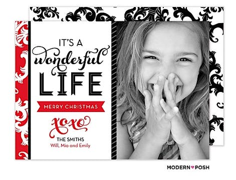 A Wonderful Life Holiday  Flat Photo Card
