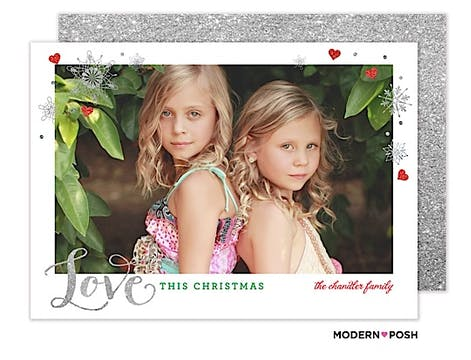 Love Is This Christmas Flat Photo Card