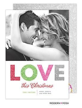 Love This Christmas Flat Photo Card