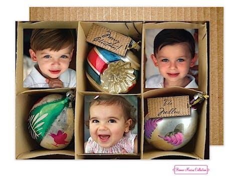 Vintage Ornament Box Flat Photo Card