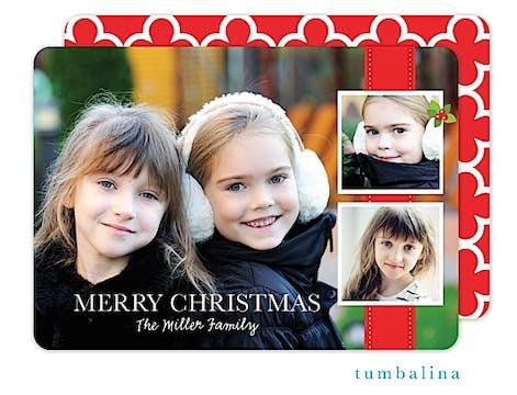Flat Photo Band Collage Holiday Flat Photo Card