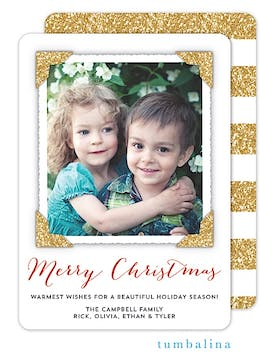 Dazzling Flat Photo Corner Frame Holiday Flat Photo Card