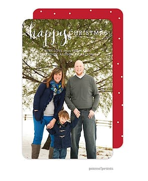 Happy Christmas Flat Photo Card