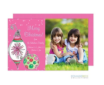 Hottie Ornaments Flat Photo Card