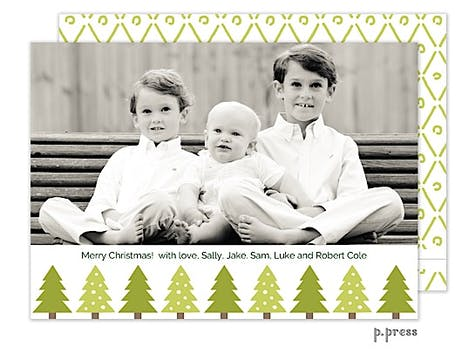 Christmas Trees Holiday Flat Photo Card