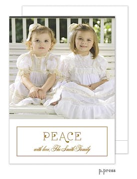 Simply Peace Holiday Flat Photo Card