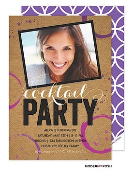 Cocktail Party Photo Invitation