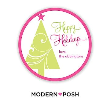 Ornament Holiday 2 Inch Gift Sticker