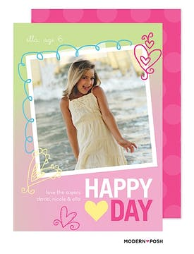 Valentine Sparkle Photo Card