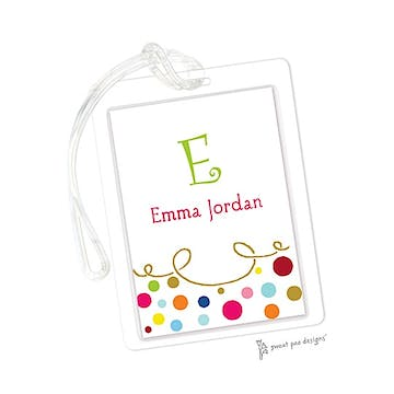 Curly Border & Dots Multi ID Tag